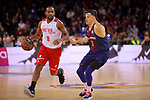 League ACB-ENDESA 2017/2018 - Game: 20.<br /> FC Barcelona Lassa vs Retabet Bilbao Basket: 90-58.<br /> Jonathan Tabu vs Thomas Heurtel.