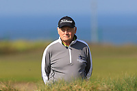 Jimmy  Duggan (Hon Sec Connacht Golf) behind the 1st tee during Round 4 of The West of Ireland Open Championship in Co. Sligo Golf Club, Rosses Point, Sligo on Sunday 7th April 2019.<br /> Picture:  Thos Caffrey / www.golffile.ie
