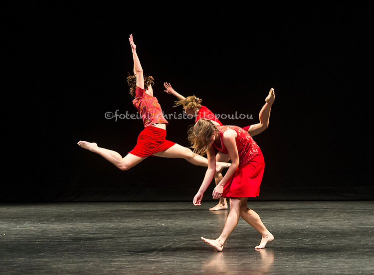 London, UK. 19.10.2017. Lyon Opera Ballet performs Trois Grandes Fugues, choreographed by Maguy Marin, as part of Dance Umbrella 2017 at Sadler's Wells 19-20 October. Dancers are: Jacqueline Bâby, Coralie Levieux, Graziella Lorriaux, Elsa Monguillot de Mirman.  Photo - © Foteini Christofilopoulou.