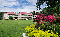 The Robert Louis Stevenson home and museum on Upolu, Western Samoa.  Stevenson, called Tusitala by Samoans, lived here the last four years of his life.  He was loved by the Samoan people until he died here in 1894.