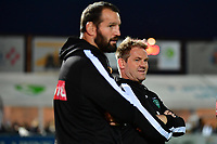 (R-L) Pau sporting manager Simon Mannix and Pau forwards coach Carl Hayman during the French Top 14 match between Racing 92 and Pau at Stade Yves Du Manoir on November 4, 2017 in Colombes, France. (Photo by Dave Winter/Icon Sport)