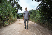 Dr. Kevin Olival of EcoHealth Alliance poses for a portrait in the abandoned pig farms in Ipoh, Perak, Malaysia on October 15th, 2016. <br /> In September 1998, a virus among pig farmers (associated with a high mortality rate) was first reported in the state of Perak in Malaysia. Dr. Chua investigated and discovered the virus and it was later named, Nipah Virus. The outbreak in Malaysia was controlled through the culling of &gt;1 million pigs.