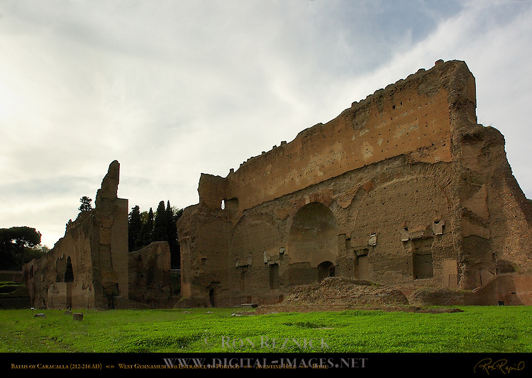 Baths of Caracalla Perimeter Gymnasium Aventine Hill Rome