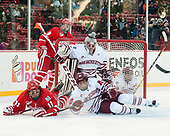 Ryan Cloonan (BU - 8), Patrick Curry (BU - 11), Ryan Wischow (UMass - 1), Jack Suter (UMass - 10) - The Boston University Terriers defeated the University of Massachusetts Minutemen 5-3 on Sunday, January 8, 2017, at Fenway Park in Boston, Massachusetts.The Boston University Terriers defeated the University of Massachusetts Minutemen 5-3 on Sunday, January 8, 2017, at Fenway Park.