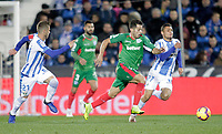 CD Leganes' Ruben Perez (L), Oscar Rodriguez Arnaiz (R) and Deportivo Alaves' Jony Rodriguez  during La Liga match. November 23,2018. (ALTERPHOTOS/Alconada) /NortePhoto.com