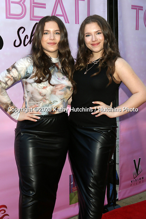 """LOS ANGELES - MAR 8:  Bianca D'Ambrosio and Chiara D'Ambrosio at the """"To the Beat! Back 2 School"""" World Premiere Arrivals at the Laemmle NoHo 7 on March 8, 2020 in North Hollywood, CA"""