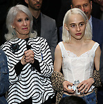 """Jamie deRoy and Anna Sophia Caruso during the Broadway Opening Night Actors' Equity Legacy Robe Ceremony honoring Jill Abramovitz for """"Beetlejuice"""" at The Wintergarden on April 25, 2019  in New York City."""