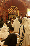 Israel, Bnei Brak. The Synagogue of the Premishlan congregation on Purim holiday, 2005<br />