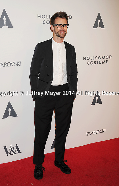 LOS ANGELES, CA- OCTOBER 01: Actor Brad Goreski attends The Academy of Motion Picture Arts and Sciences' Hollywood Costume Opening Party at the Wilshire May Company Building on October 1, 2014 in Los Angeles, California.
