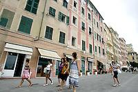 Uno scorcio di Camogli, coi suoi caratteristici alti palazzi.<br /> A view of Camogli, with its typical tall houses.<br /> UPDATE IMAGES PRESS/Riccardo De Luca