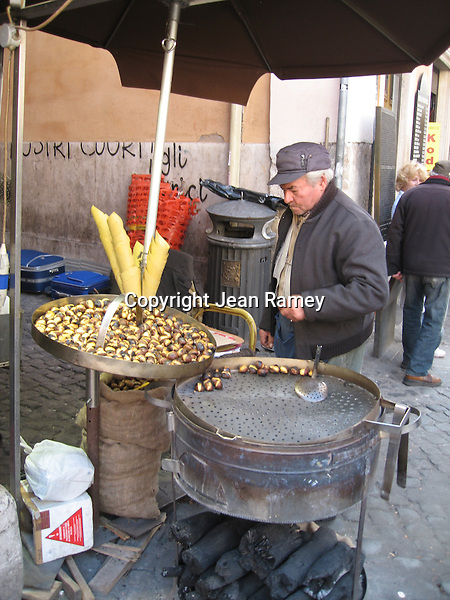 Roasted chestnuts, Rome