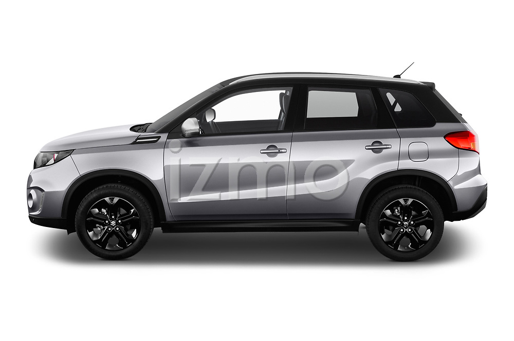 Car driver side profile view of a 2018 Suzuki Vitara GLX  S 5 Door SUV