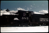 Side view of #483 K-36 in Chama.<br /> C&amp;TS  Chama, NM