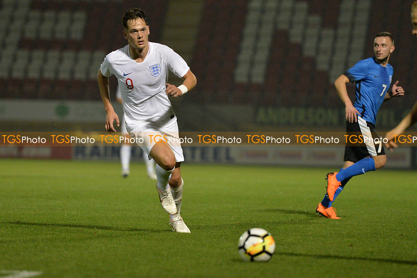Alfie Pavey Of England C and Havant & Waterlooville FC during England C vs Estonia Under-23, International Friendly Match Football at The Breyer Group Stadium on 10th October 2018