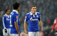 FUSSBALL   1. BUNDESLIGA   SAISON 2011/2012   20. SPIELTAG FC Schalke 04 - FSV Mainz 05                                  04.02.2012 Raul (li) und Kyriakos Papadopoulos (re, beide FC Schalke 04) entteuscht