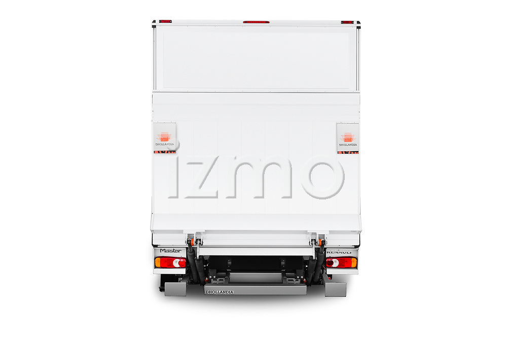 Straight rear view of a 2019 Renault Master Base 4 Door Cargo Van stock images