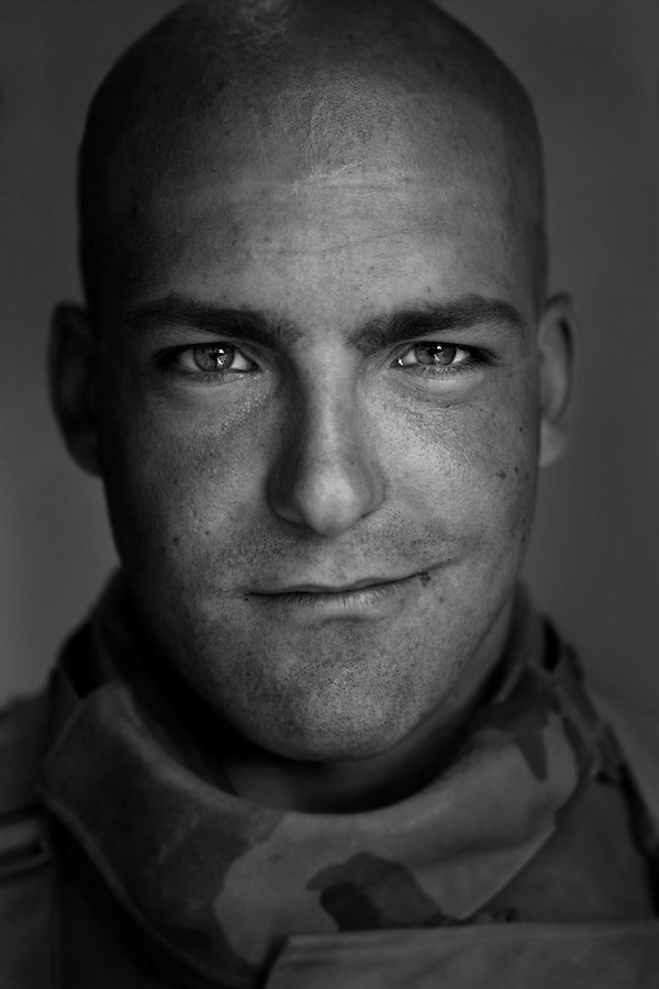 Lcpl. Samuel Severtsgaart, 20, Genenseo, Illinois, 3rd Platoon, Kilo Company, 3rd Battalion, 1st Marine Regiment, 1st Marine Division, United States Marine Corps, at the company's firm base in Hit, Iraq on Friday Sept. 23, 2005.