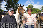 Stephen O'Sullivan Gneeveguilla and Jim Palmer Mallow Pictured at Kenmare fair day on Saturday.