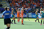 The Hague, Netherlands, June 14: Kim Lammers #23 of The Netherlands gestures during the field hockey gold medal match (Women) between Australia and The Netherlands on June 14, 2014 during the World Cup 2014 at Kyocera Stadium in The Hague, Netherlands. Final score 2-0 (2-0)  (Photo by Dirk Markgraf / www.265-images.com) *** Local caption ***
