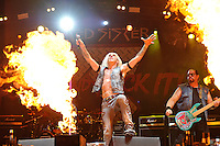 DERBYSHIRE, ENGLAND - AUGUST 12: Dee Snider and Mark Mendoza of 'Twisted Sister' performing at Bloodstock Open Air Festival, Catton Park on August 12, 2016 in Derbyshire, England.<br /> CAP/MAR<br /> &copy;MAR/Capital Pictures /MediaPunch ***NORTH AND SOUTH AMERICAS ONLY***