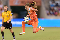 Houston, TX - Friday May 20, 2016: Houston Dash midfielder Andressa Machry (17). The Orlando Pride defeated the Houston Dash 1-0 during a regular season National Women's Soccer League (NWSL) match at BBVA Compass Stadium.