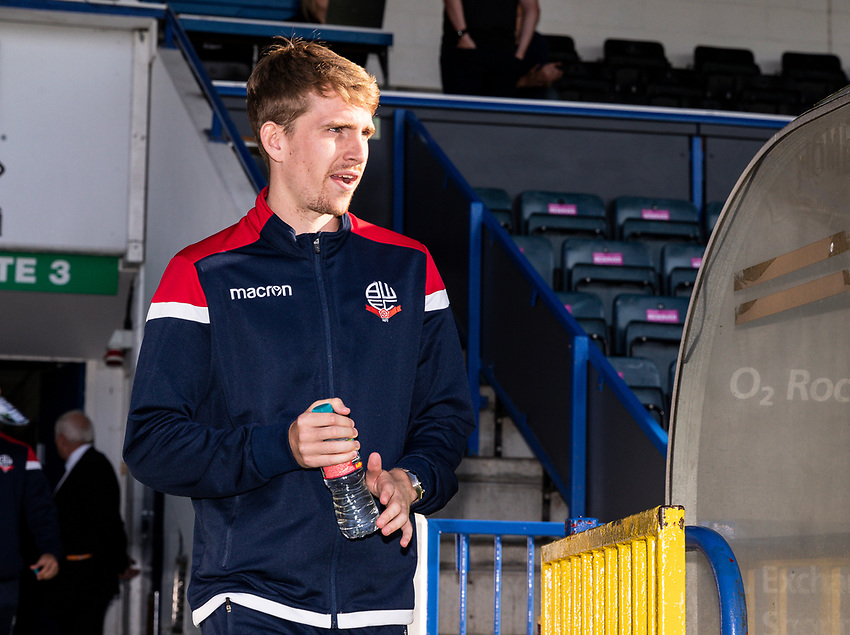 Bolton Wanderers' Harry Brockbank goes out to inspect the pitch before the match<br /> <br /> Photographer Andrew Kearns/CameraSport<br /> <br /> The Carabao Cup First Round - Rochdale v Bolton Wanderers - Tuesday 13th August 2019 - Spotland Stadium - Rochdale<br />  <br /> World Copyright © 2019 CameraSport. All rights reserved. 43 Linden Ave. Countesthorpe. Leicester. England. LE8 5PG - Tel: +44 (0) 116 277 4147 - admin@camerasport.com - www.camerasport.com