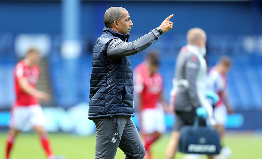 Nottingham Forest manager Sabri Lamouchi gestures<br /> <br /> Photographer Rich Linley/CameraSport<br /> <br /> The EFL Sky Bet Championship - Sheffield Wednesday v Nottingham Forest - Saturday 20th June 2020 - Hillsborough - Sheffield <br /> <br /> World Copyright © 2020 CameraSport. All rights reserved. 43 Linden Ave. Countesthorpe. Leicester. England. LE8 5PG - Tel: +44 (0) 116 277 4147 - admin@camerasport.com - www.camerasport.com