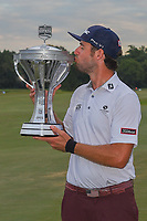 Lanto Griffin (USA) holds the trophy for winning the 2019 Houston Open, Golf Club of Houston, Houston, Texas, USA. 10/13/2019.<br /> Picture Ken Murray / Golffile.ie<br /> <br /> All photo usage must carry mandatory copyright credit (© Golffile | Ken Murray)