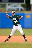 Dartmouth Big Green infielder Nick Lombardi (20) during a game against the University of Alabama at Birmingham Blazers at Chain of Lakes Stadium on March 17, 2013 in Winter Haven, Florida.  Dartmouth defeated UAB 4-0.  (Mike Janes/Four Seam Images)