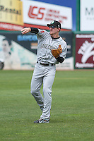 Kane County Cougars infielder Ryan Gebhardt (7) warms up prior to a Midwest League game against the Wisconsin Timber Rattlers on May 16th, 2015 at Fox Cities Stadium in Appleton, Wisconsin.  Kane County defeated Wisconsin 4-2.  (Brad Krause/Four Seam Images)
