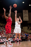 STANFORD, CA - November 14, 2010: Toni Kokenis during a basketball game against Rutgers at Stanford University in Stanford, California. Stanford won 63-50.
