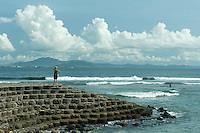 Anne looking at southern tip of Lombok in distance