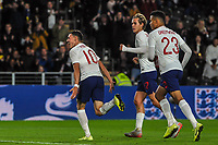 England Under 21's midfielder Phil Foden (10) celebrates his second during the UEFA Euro U21 Qualifying match between England U21 & Kosovo U21 at KCOM Craven Park, Hull, England on 9 September 2019. Photo by Stephen Buckley / PRiME Media Images.