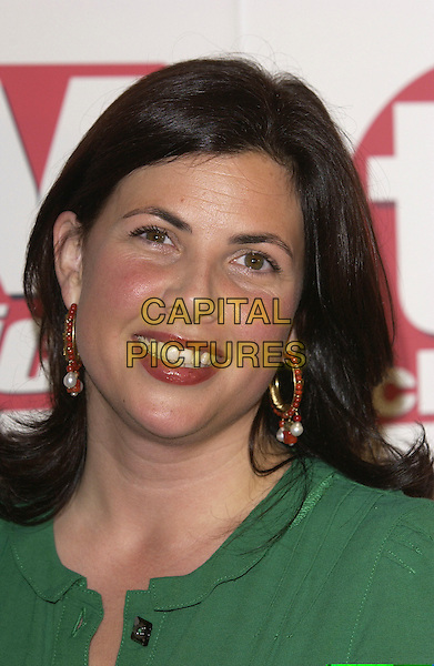 KIRSTY ALLSOP.Arriving at the TV Quick & TV Choice Awards,.Dorchester Hotel, Park Lane,.London, 5th September 2005.portrait headshot green dress red bead earrings.www.capitalpictures.com.sales@capitalpictures.com.© Capital Pictures.