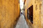 Picturesque alley. Hoi An, Vietnam. April 15, 2016.