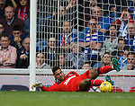 Wes Foderingham saves with his feet