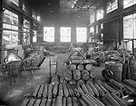 Pittsburgh PA:  View of Mold room at Allegheny Steel Company - 1932.  Swindell Dressler International Company was based in Pittsburgh, Pennsylvania. The company was founded by Phillip Dressler in 1915 as American Dressler Tunnel Kilns, Inc.  In 1930, American Dressler Tunnel Kilns, Inc. merged with William Swindell and Brothers to form Swindell-Dressler Corporation. The Swindell brothers designed, built, and repaired metallurgical furnaces for the steel and aluminum industries. The new company offered extensive heat-treating capabilities to heavy industry worldwide.