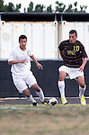 Palos Verdes, CA 01/22/13 - Erik Le (Peninsula #16) and Joseph Barakat  (West Torrance #10) in action during the West vs Peninsula boys varsity soccer game at Peninsula High School.