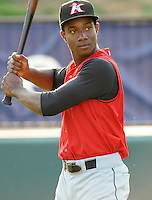 August 25, 2009: Outfielder Brandon Short (13) of the Kannapolis Intimidators, South Atlantic League affiliate of the Chicago White Sox, in a game at Fluor Field at the West End in Greenville, S.C. Photo by: Tom Priddy/Four Seam Images