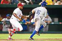 July 21, 2010 Curt Smith (22) in action during the MiLB game between the Tulsa Drillers and the Springfield Cardinals at Hammons Field in Springfield Missouri.  Tulsa won 5-3
