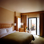 One of two terrace rooms available at the Orchard Gardens Hotel, the country's first LEED certified hotel.