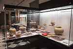 Display of prehistoric funeral pottery, archaeology museum, Jerez de la Frontera, Cadiz Province, Spain