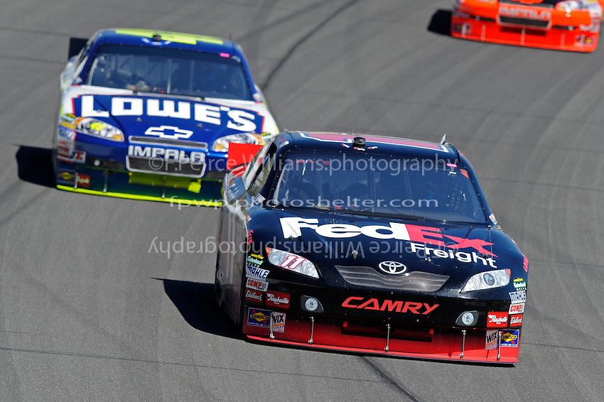 Denny Hamlin (#11) and Jimmie Johnson (#48)