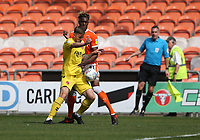 Fleetwood Town's Ashley Eastham shields the ball from Blackpool's Armand Gnanduillet<br /> <br /> Photographer Stephen White/CameraSport<br /> <br /> The EFL Sky Bet League One - Blackpool v Fleetwood Town - Monday 22nd April 2019 - Bloomfield Road - Blackpool<br /> <br /> World Copyright © 2019 CameraSport. All rights reserved. 43 Linden Ave. Countesthorpe. Leicester. England. LE8 5PG - Tel: +44 (0) 116 277 4147 - admin@camerasport.com - www.camerasport.com<br /> <br /> Photographer Stephen White/CameraSport<br /> <br /> The EFL Sky Bet Championship - Preston North End v Ipswich Town - Friday 19th April 2019 - Deepdale Stadium - Preston<br /> <br /> World Copyright © 2019 CameraSport. All rights reserved. 43 Linden Ave. Countesthorpe. Leicester. England. LE8 5PG - Tel: +44 (0) 116 277 4147 - admin@camerasport.com - www.camerasport.com