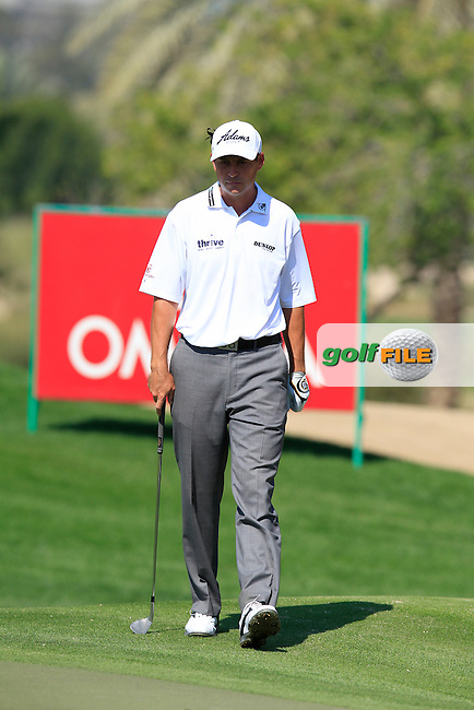 David HOWELL (ENG) on the 10th green during Thursday's Round 1 of the 2015 Omega Dubai Desert Classic held at the Emirates Golf Club, Dubai, UAE.: Picture Eoin Clarke, www.golffile.ie: 1/29/2015