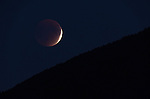 lunar eclipse blood moon rising