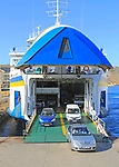Vehicle ferry  disembarkation at port, Gozo Channel Line Ferries, Mgarr ferry terminal, Gozo, Malta