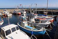 Hafen von Snogeb&aelig;k auf der Insel Bornholm, D&auml;nemark, Europa<br /> port of Snogebaek, Isle of Bornholm Denmark