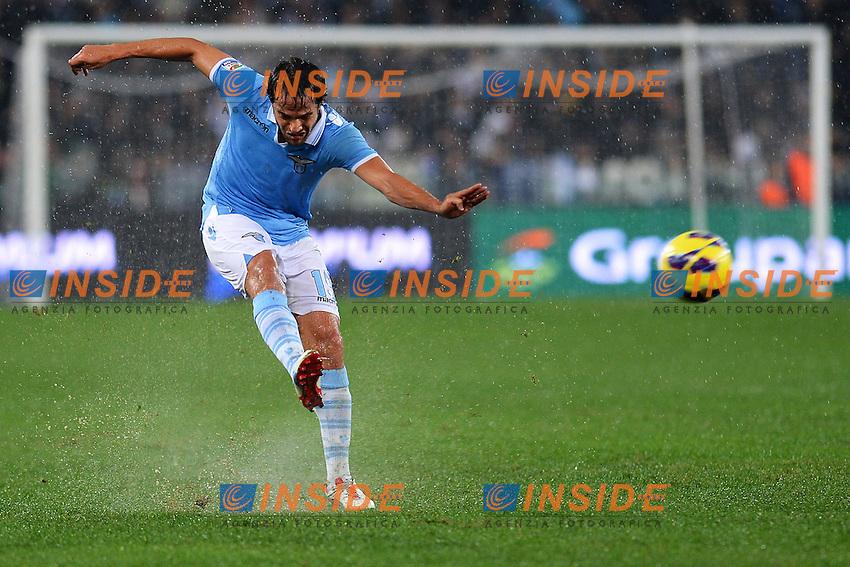 Alvaro Gonzalez Lazio.Roma 11/11/2012 Stadio Olimpico.Football Calcio 2012/2013 Serie A.Lazio Vs Roma.Foto Insidefoto Andrea Staccioli