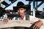 Portrait of an indigenous cowboy.  Mareeba Rodeo, Mareeba, Queensland, Australia